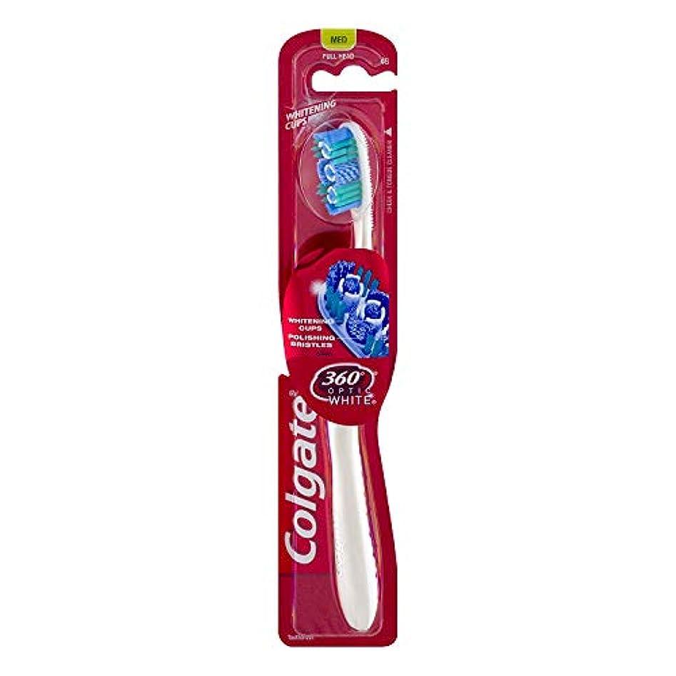 エレガント学習者職業Colgate オプティックホワイト360 Tサイズ1CTオプティックホワイト360歯ブラシメッド 1パック