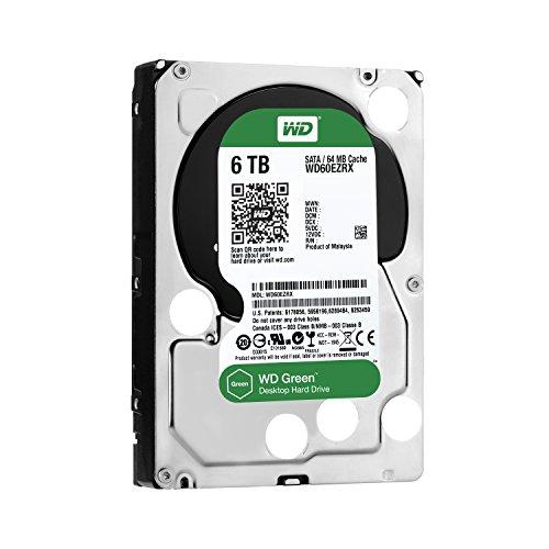 【Amazon.co.jp限定】WD 内蔵HDD Green 6TB 3.5inch SATA3.0 64MB Inteilipower 1年追加延長保証 WD60EZRX/EWN (FFP)