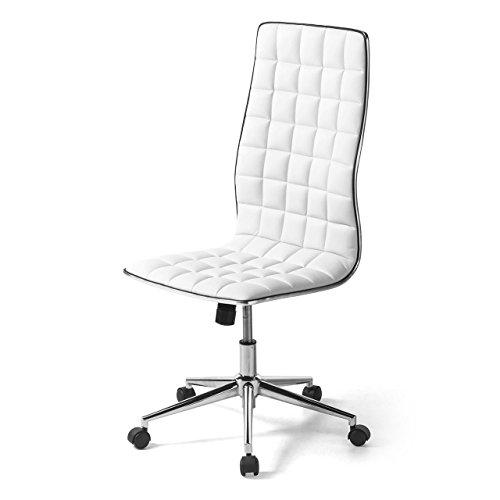 サンワダイレクト シンプルデザインチェア ハイバック パソコンチェア オフィスチェア ホワイト 150-SNCH017W