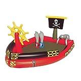 ビニールプール 子供用「海賊船、剣2本と水の大砲付」53041 送料無料:北沖離除