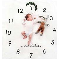 kiejun ベビーフォト 撮影シーツ 寝相アート 記念撮影 赤ちゃん フォトシーツ 誕生日 月齢フォト 成長記録 セレモニー (3,Cタイプ)