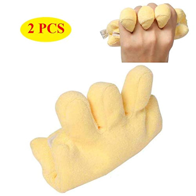 の頭の上おかしいクマノミ手拘縮装具予防クッション、患者高齢者用の指セパレーター付きパームプロテクター,2PCS