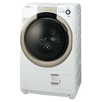 シャープ 7.0kg ドラム式洗濯乾燥機【左開き】ホワイト系SHARP プラズマクラスター洗濯乾燥機 ES-S70-WL