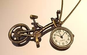 自転車時計ネックレス