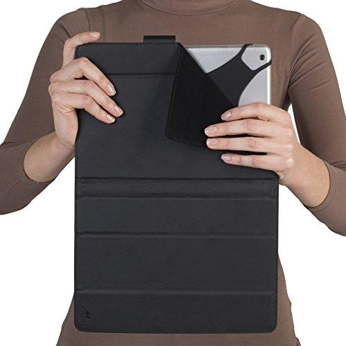 Rivacase (リヴァケース)3137 ユニバーサル。10 インチタブレットケース、カメラレンズホール付き、スマートでタブレットに優しい人工皮革。色はブラック(黒)