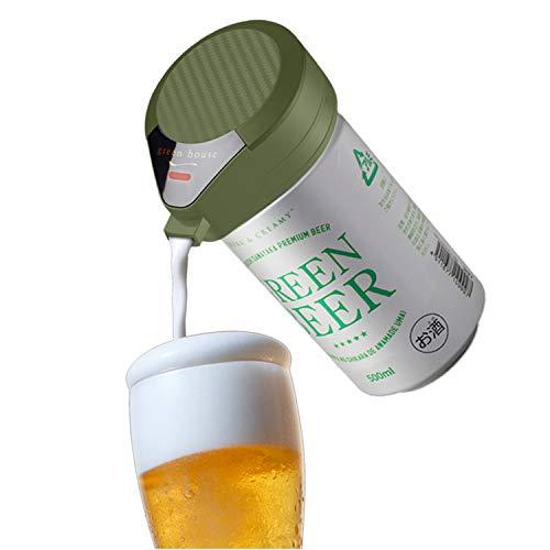 グリーンハウス ビールサーバー グリーン 瓶アタッチメント付属 ワンタッチビアサーバー GH-BEERMEC-GR