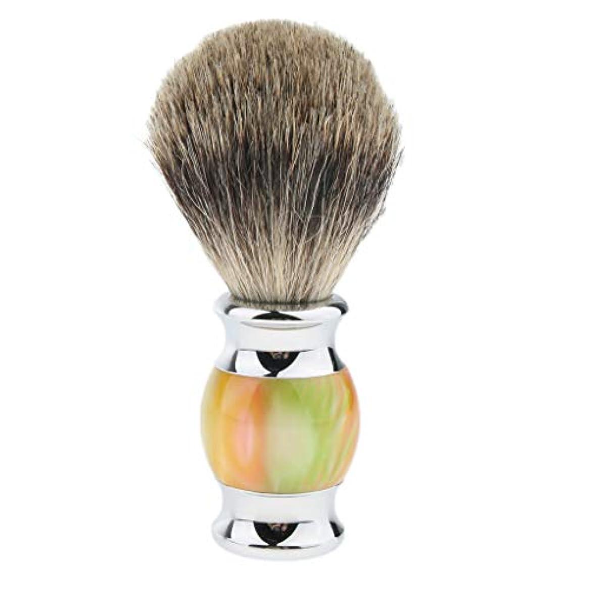 エミュレーション引っ張るボタンHellery ひげブラシ シェービング ブラシ メンズ 理容 洗顔 髭剃り 泡立ち 多色選べ - 01