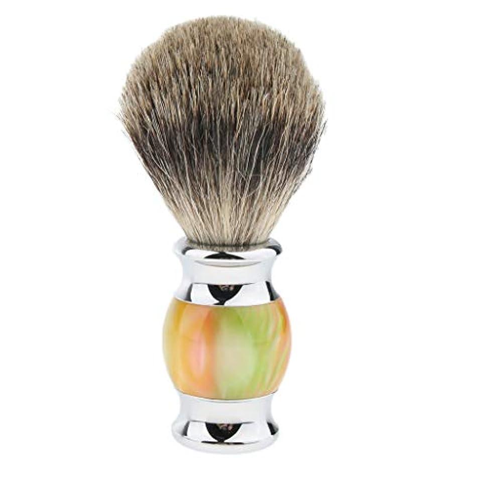 そうでなければ懐疑的集団シェービングブラシ メンズ 髭剃り ひげ剃り ひげそり 美容 理容 多色選べ - 01