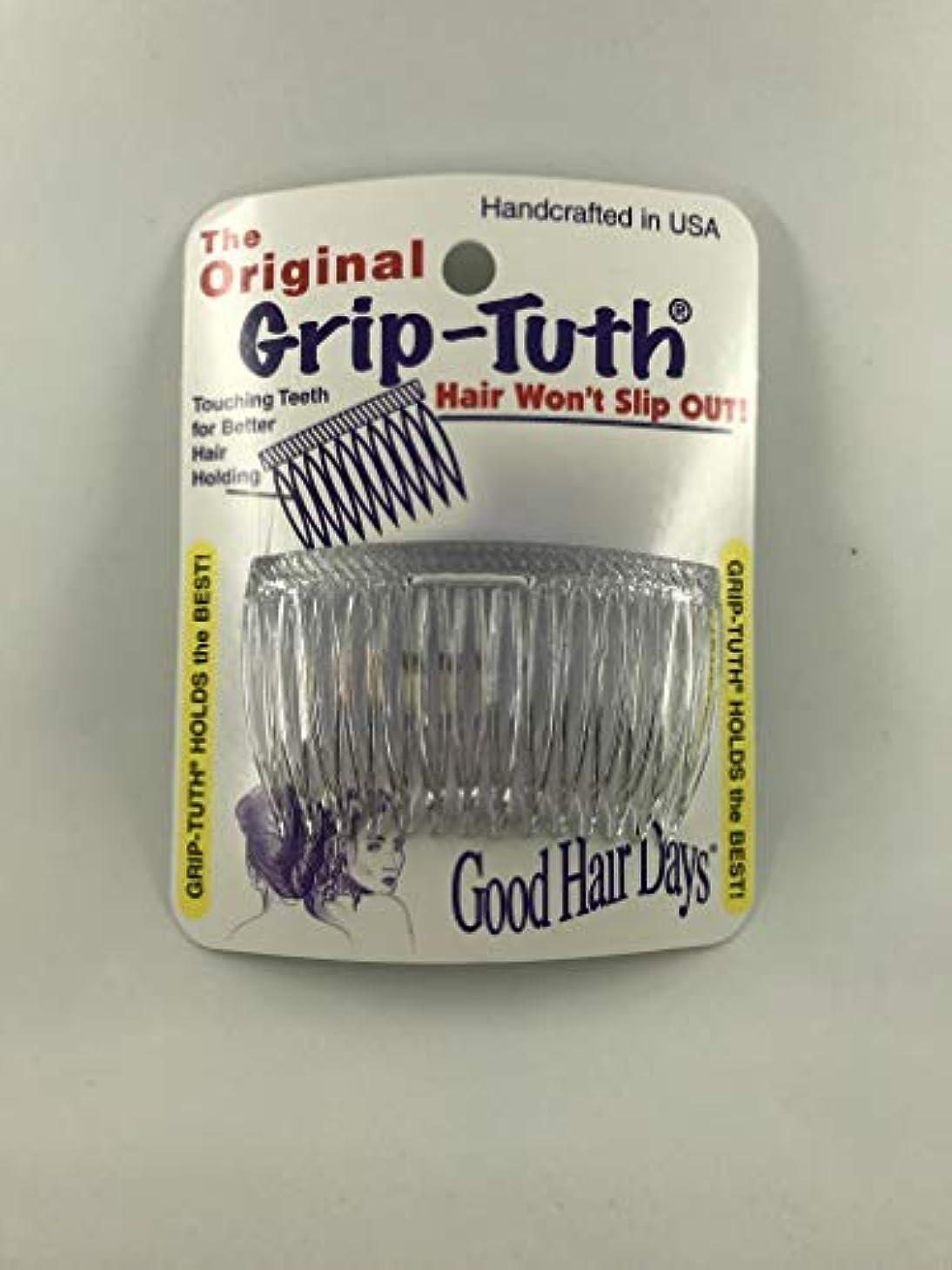 溶けた通りプラカードGood Hair Days Grip Tuth Combs 40414 Set of 2, Clear 2 3/4