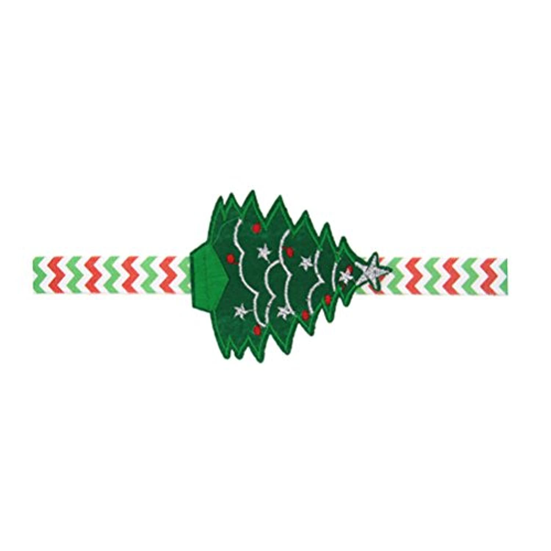 Zhhlinyuan ベビー小物 Kids Baby Girls ヘアアクセサリ Elastic Christmas Tree Hairband Headbands Headdress for Girls