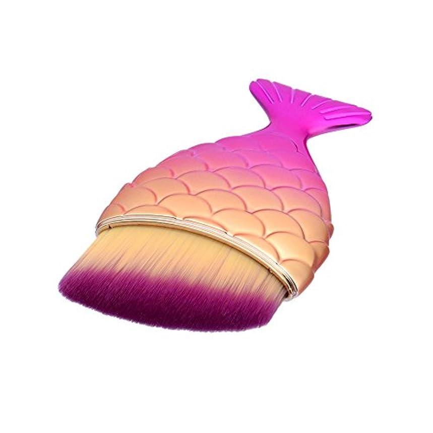 食事を調理するアシスト珍味(プタス)Putars メイクブラシ ファンデーションブラシ マーメイド 6*1.5*11cm ホットピンク 化粧ブラシ ふわふわ お肌に優しい 毛量たっぷり メイク道具 プレゼント