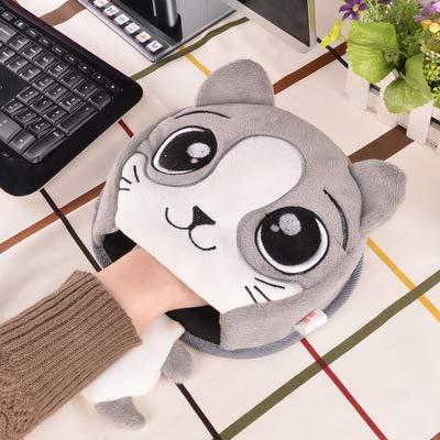 haplife マウスパッド USB加熱タイプ 手を防寒対策 冷え性に対応 省エネ 省電力 ホットマウスパッド USBハンドウォーマー 防寒グッズ 加熱パッドマウス 可愛い おしゃれ (グレー)