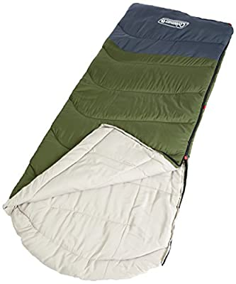 Coleman Mudgee C5 Tall Sleeping Bag, Green/Grey
