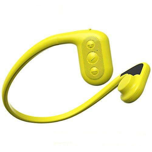 Tayogo 骨伝導ヘッドホン一体型 水泳防水MP3プレーヤー 8GB 国際防水等級IPX8 スポーツ用 防水/海水/防塵/耐寒熱性能搭載 FMラジオ w01 (イエロー)