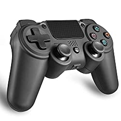 【スティック改良】 PS4 ワイヤレス コントローラー 500mAh イヤフォン使用可 無線 Bluetooth接続 リモートコントロール 加速度センサー 6軸 重力感応 HD振動 高耐久ボタン ゲームパッド 日本取扱説明書付き AnvFlik