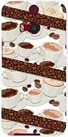 htc j バタフライ HTL23 HTC J butterfly バタフライ ハード カバー ケース コーヒーとコーヒー豆 au スマホケース エーユー スマホカバー デザインケース