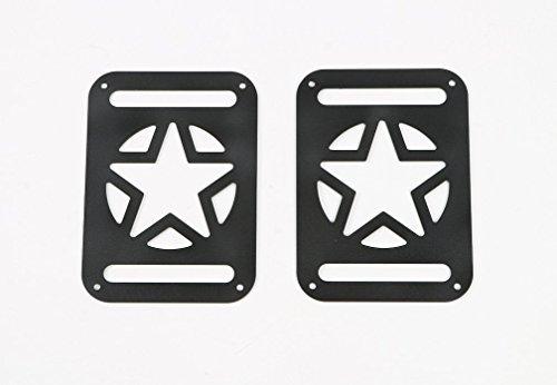 [해외]07-17 지프 랭글러위한 Opar 파이브 스타 테일 라이트 커버 JK & 랭글러 언리미티드 - 쌍/07-17 Opar Five Star Tail Light Cover for Jeep Wrangler JK & Wrangler Unlimited - Pair