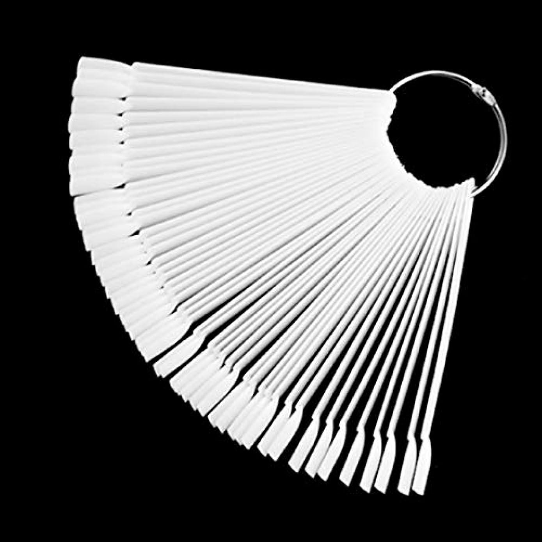 50 /セットネイルアートのヒントディスプレイ練習用スタイル扇形のネイルポリッシュ見本のネイルカラーサンプラーネイルアートの練習ツール