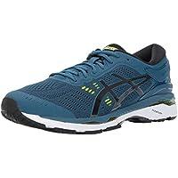ASICS Men's GEL Kayano 24 Shoe Ink Blue/Black/Safety Yellow