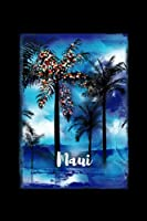 Maui: Hawaiian Christmas Notebook With Lined Wide Ruled Paper For Taking Notes. Stylish Tropical Travel Journal Diary 6 x 9 Inch Soft Cover. For Home, Work Or School.