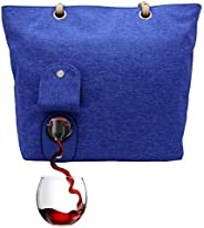 PortoVino City Tote - Fashionable Wine Purse with Hidden, Insulated Compartment, Holds 2 Bottles of Wine! Roya