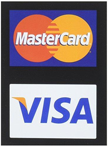 Mastercard Visaクレジット・カード/デカール(4パック)