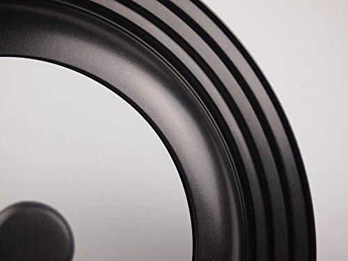 パール金属 ガラス窓付 立つ フライパン 鍋 蓋 24~28cm 用 シリコーン 加工 スタンディング パンカバー 限定商品 HB-3109