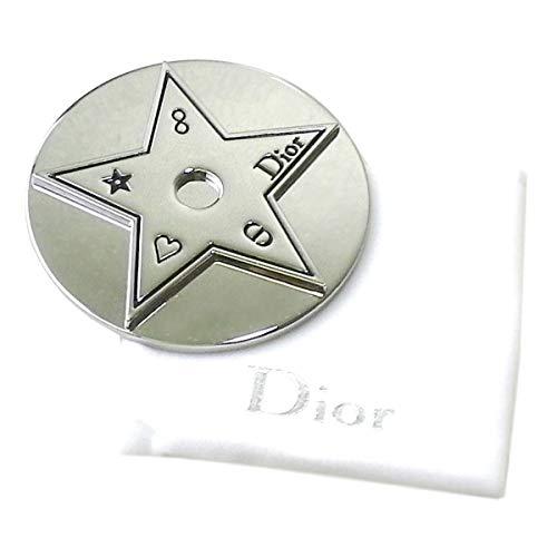 Dior ディオール ミラー 鏡 ロゴ 銀 シルバー 保護ケース 袋 星 スター ミニ 小さめ 携帯 化粧 メイク コスメ