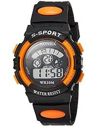 [フォンエックス]HONHX デジタル腕時計 子供用スポーツモデル オレンジ H0152 ボーイズ 【並行輸入品】