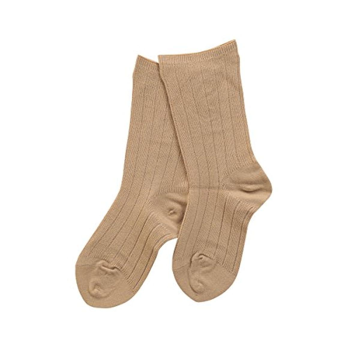 上下する受付初心者(コベス) KOBES ゴムなし 毛混 超ゆったり靴下 日本製 婦人靴下