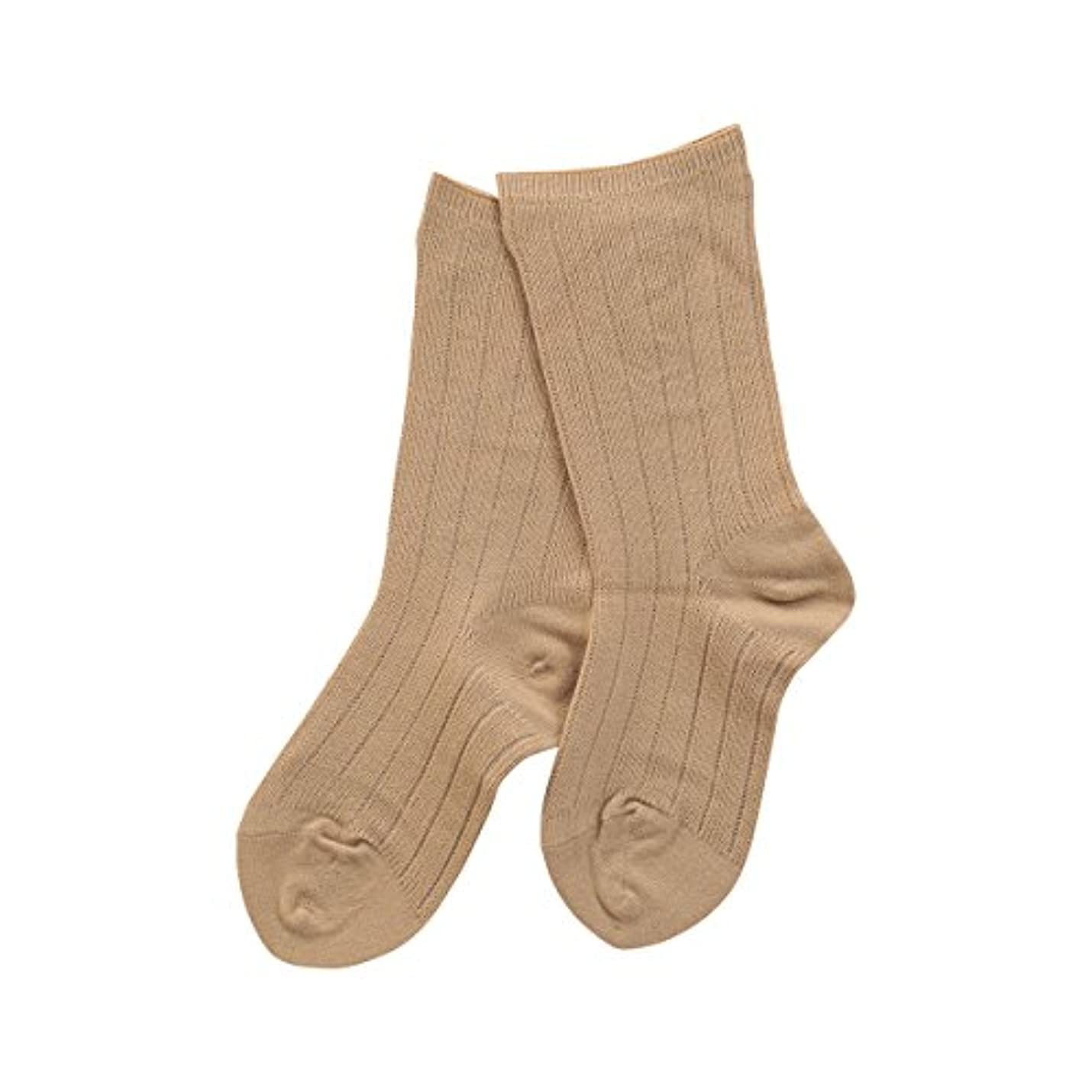 建物出撃者影響を受けやすいです(コベス) KOBES ゴムなし 毛混 超ゆったり靴下 日本製 婦人靴下