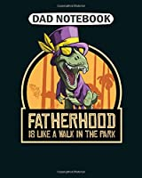 Dad Notebook: fathers day riders motorcycle papa motocross  College Ruled - 50 sheets, 100 pages - 8 x 10 inches