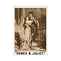 Theatre Stage Characters Shakespeare Romeo Juliet Embrace Art Framed Wall Art Print 劇場ステージ壁