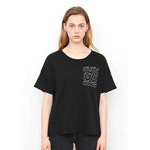 (グラニフ)graniph ポケットデザイン五分袖Tシャツ / フライライクアバード ( ブラック ) Lady(F)