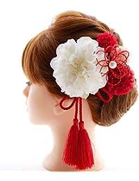 髪飾り6点セット【選べるカラーバリエーション】着物 浴衣 卒業式 和装 袴 成人式 結婚式 七五三にD