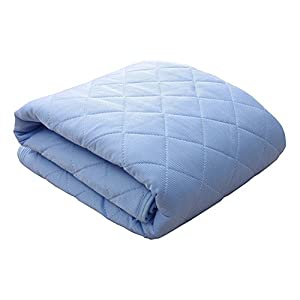 シングルサイズ 接触冷感 敷きパッド「 レノ 」【GL】サイズ:100×205cm ブルー(#9810684)