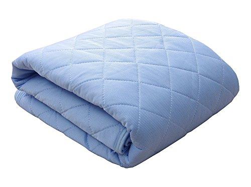 シングルサイズ 接触冷感 敷きパッド「 レノ 」【GL】サイズ:100×205cm ブルー(#9810684)...