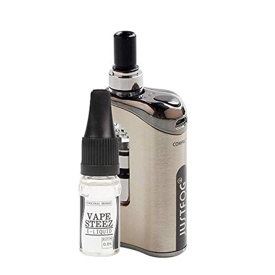 番号韻義務づける電子タバコ スターターキット vape Justfog Compact 14 Kit ジャストフォグ コンパクト14 Q14アトマイザー搭載 内蔵バッテリー 1500mAh(Silver)