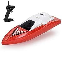 ラジコンボート スピードボート レース 沈みにくい 単ハッチ 水冷自動復原 システム 安全ストップ 転覆 反転 機能 搭載 機能付 2.4GHz,red