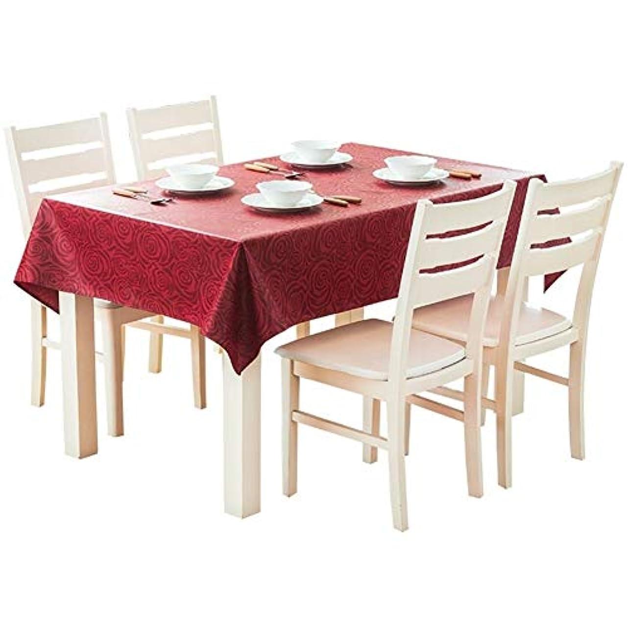 召集するゾーン免除するLuckya テーブルクロス テーブルマット テーブルクロス防水及び防油ジャカードダーク長方形のコーヒーテーブルクロス お手入れ簡単 家庭用 (Color : Red, Size : 140*140cm)