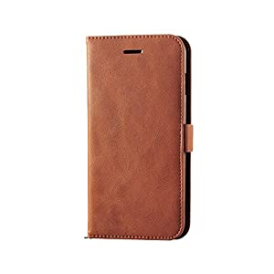 エレコム iPhone7 Plus ケース [iPhone8 Plus対応] ソフトレザーケース マグネット 手帳型 PM-A16LPLFYMBR