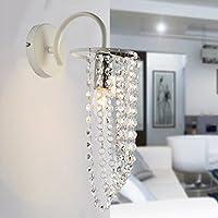 YJH+ ベッドサイドランプウォールランプベッドルーム通路クリエイティブ近代的ミニマリストリビングルームLedウォールランプクリスタル 美しく、寛大な ( 色 : 白 )