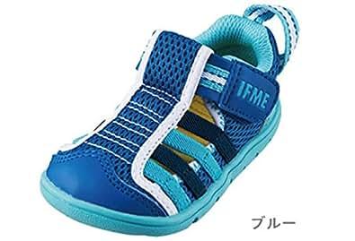 イフミー IFME ベビー ウォーターシューズ スニーカー 6012 (12cm, ブルー)