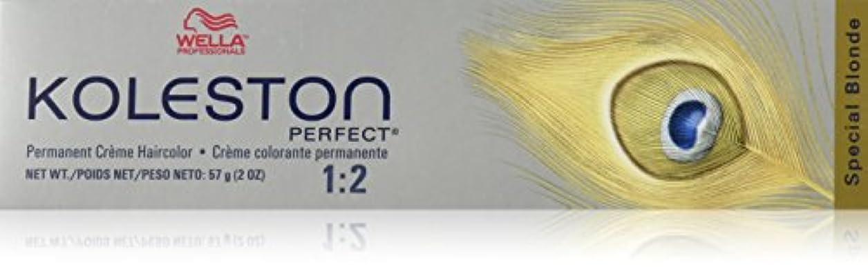 掃除抗生物質膨らみWella Kolestonパーフェクトヘアカラー、2オンス 81分の12特別なブロンド/パールアッシュ