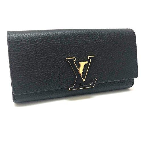 (ルイ・ヴィトン) LOUIS VUITTON M61248 ポルトフォイユ・カプシーヌ 二つ折り長財布 長財布(小銭入れあり) トリヨンレザー/レディース 新品同様 中古