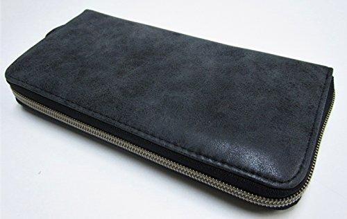ジュピターハロー 型押し長財布 メンズ レディース (ブラック)