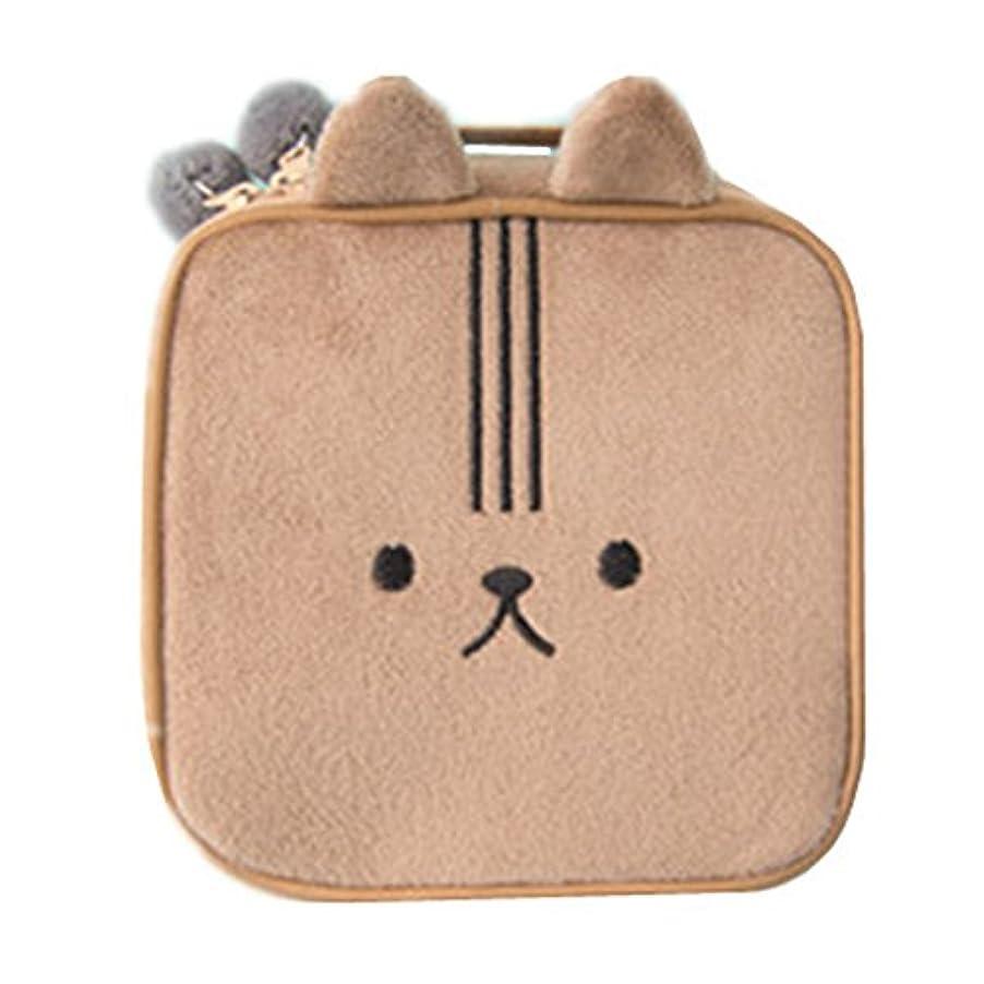挽くグレード実用的良いも かわいいウサギの化粧品袋漫画の女の子のミニポーチ旅行ウォッシュメイクツールオーガナイザーケースボックスアクセサリー用品