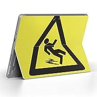 Surface go 専用スキンシール サーフェス go ノートブック ノートパソコン カバー ケース フィルム ステッカー アクセサリー 保護 ユニーク 危険 看板 絵 000040