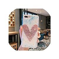 ケースのためにfor iphone 6 6s 7 8 Plus 8Plus 10 11 X XS XR Pro Max Bling Glitter Sequins Gold Foil Marble Flower Soft Silicone TPU Cover,for iphone 8,B