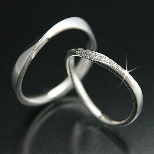 [ココカル]cococaru ペアリング プラチナ リング Pt900 マリッジリング 結婚指輪 日本製 レディース ダイヤ付